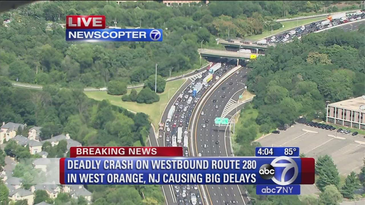Deadly accident on Westbound Route 280 in West Orange
