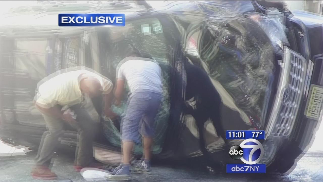 EXCLUSIVE: Good Samaritans rescue man trapped in car after crash