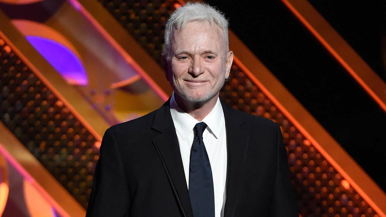 Anthony Geary accepts the award for outstanding lead actor in a drama series for General Hospital at the 42nd annual Daytime Emmy Awards.