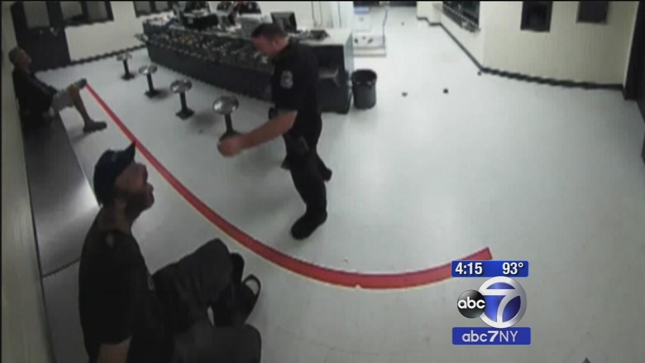 Florida cop on leave after video shows him throwing peanuts at inmate, taunting him