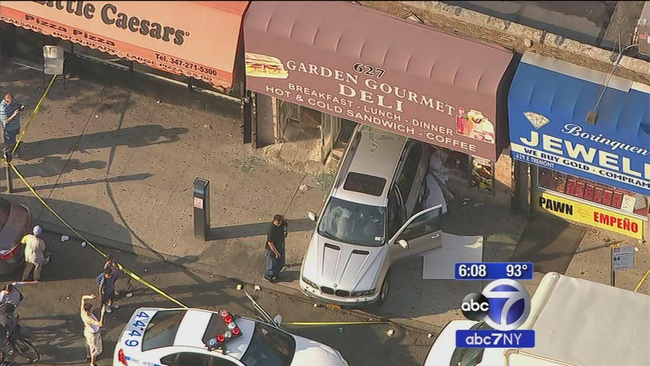 Car crashes into store in Tremont section of the Bronx
