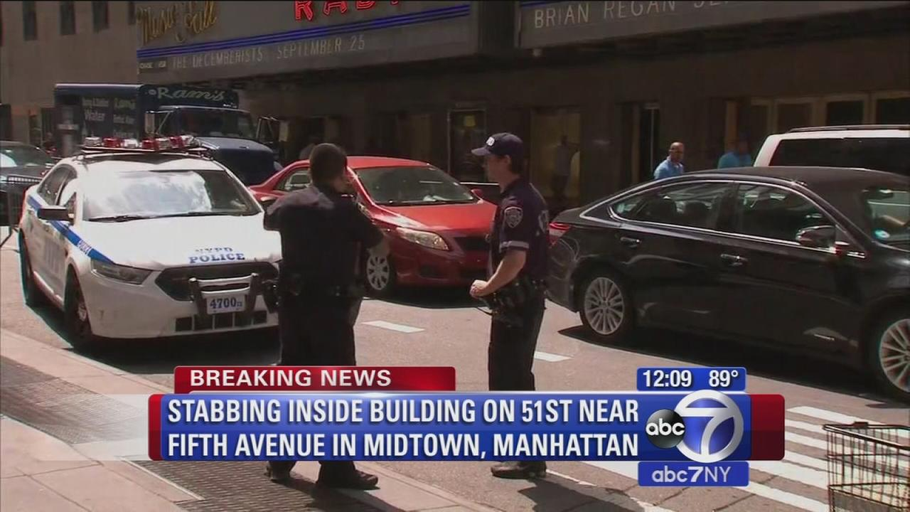 Medical worker stabbed in Midtown office