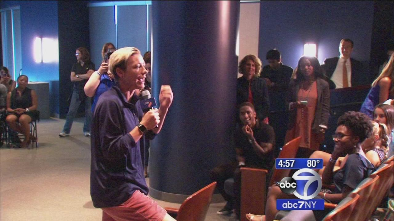 Soccer champion Abby Wambach inspires kids to visit Citi Field