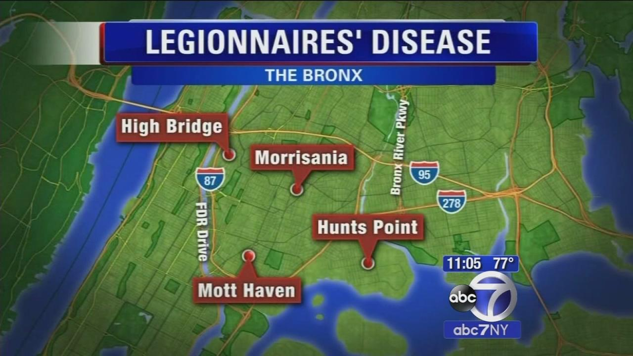Legionnaires cases in the Bronx now up to 46