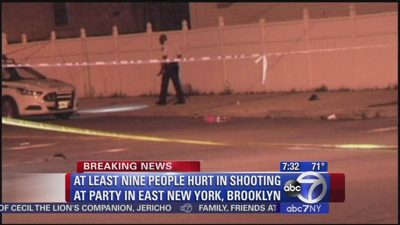 At least 9 shot at East New York party