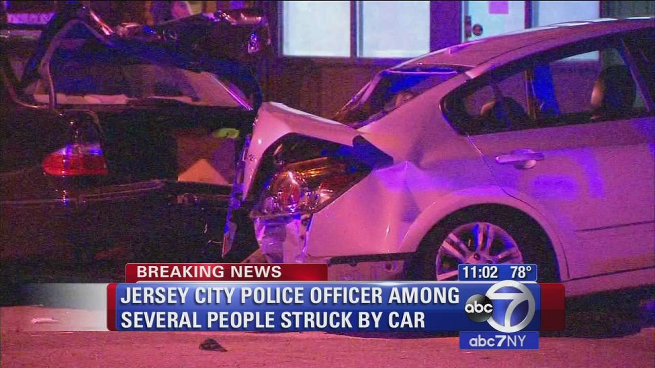 Jersey City officer among several people struck by car