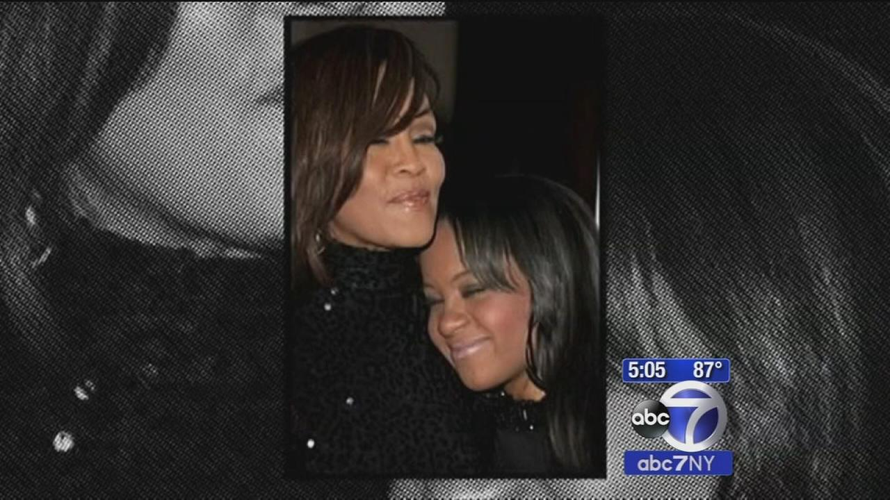 Bobbi Kristina Brown laid to rest next to Whitney Houston at Fairview Cemetery