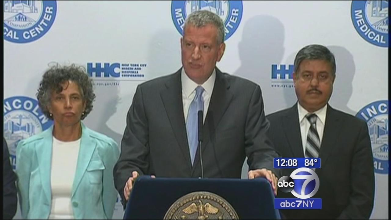 Mayor Bill de Blasio says New York City Legionnaires outbreak slowing; total number of cases rises to 86