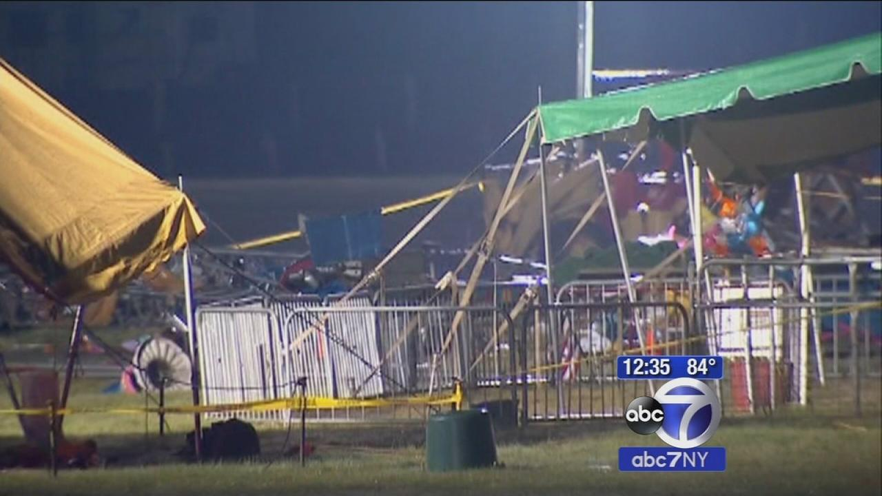 New Hampshire circus tent collapse kills 2, injures 22