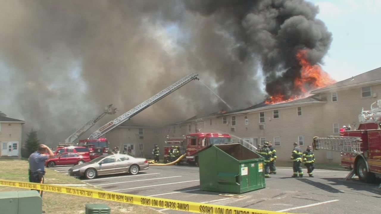 Raw video of Ocean Township fire fight