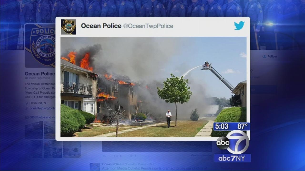 6-alarm fire tears through apartment complex in Ocean Township