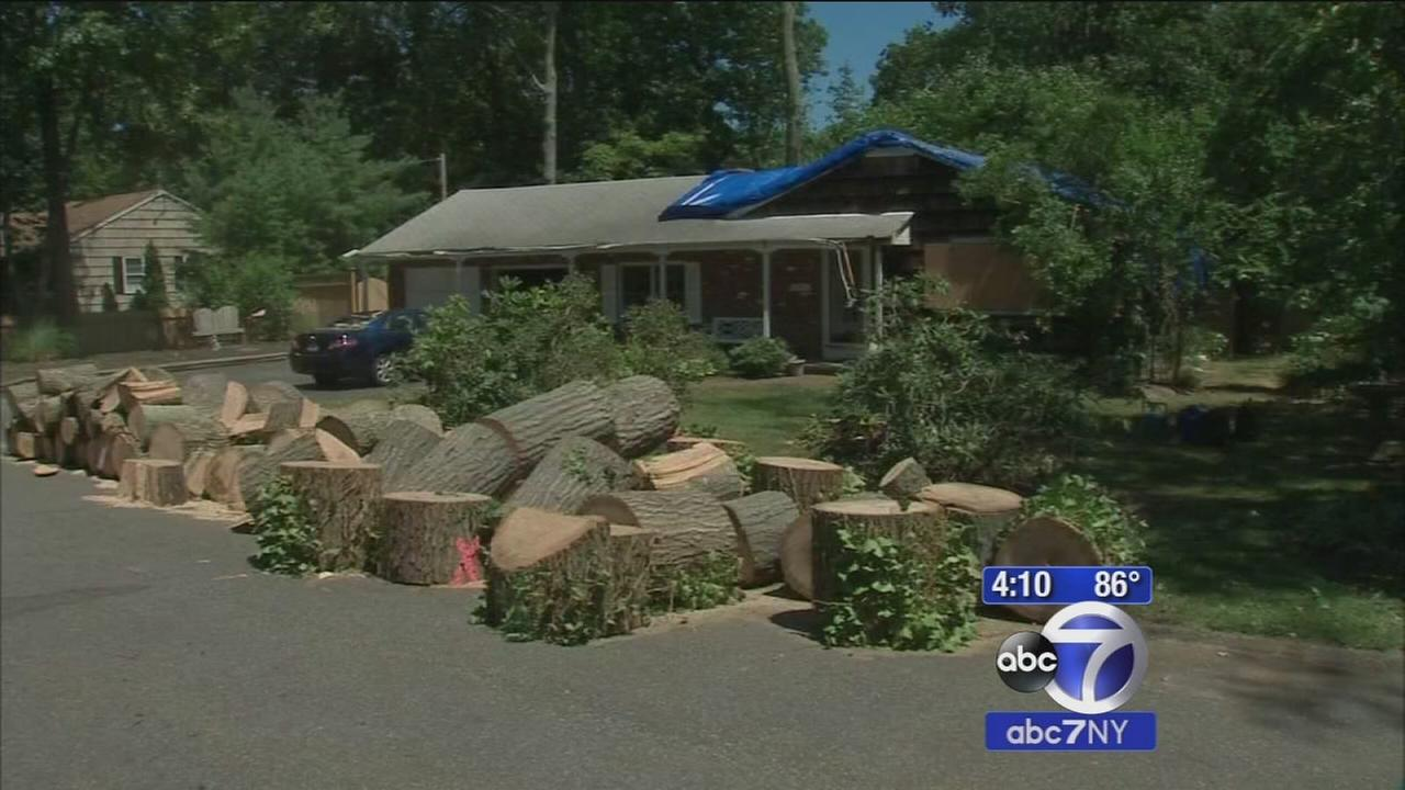 Thousands still without power on Long Island after storms