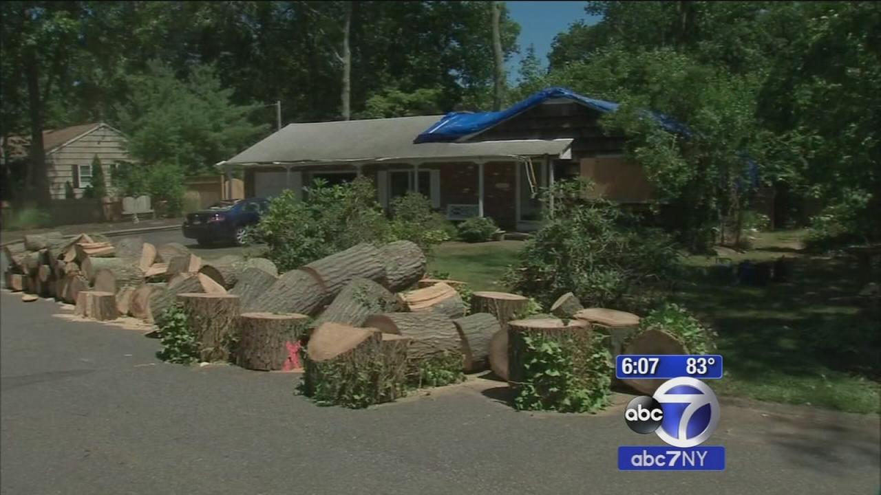 Thousands without power on Long Island after storms