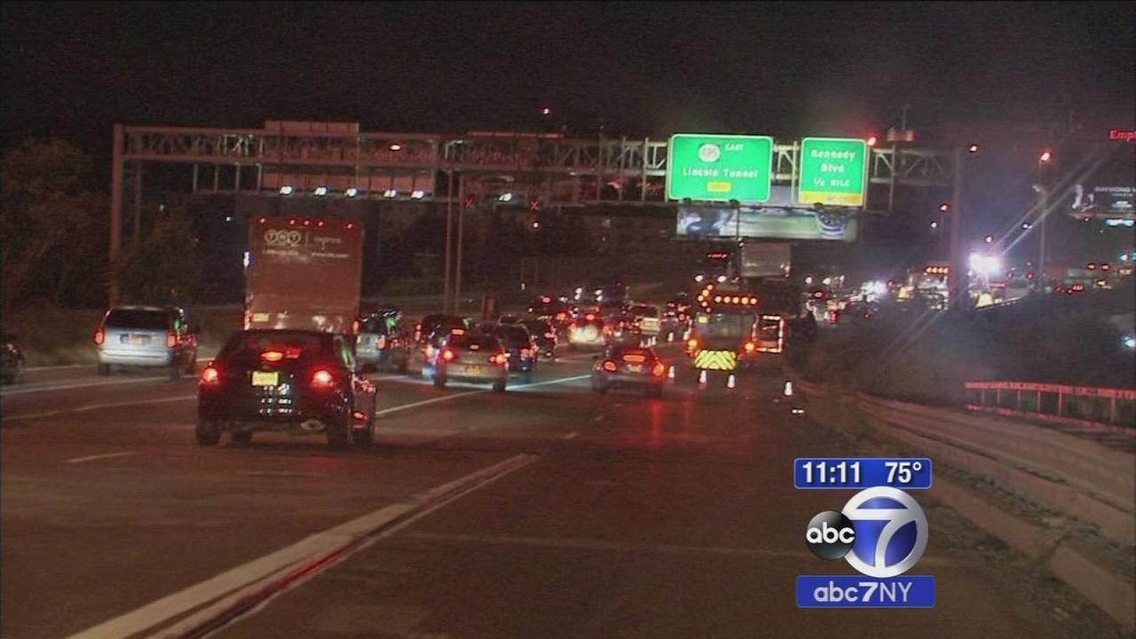 Emergency repairs at bridge to Lincoln Tunnel
