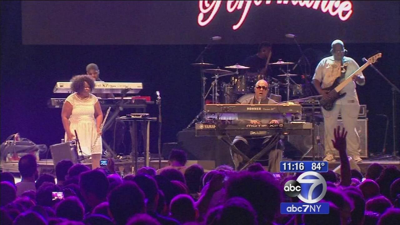 Stevie Wonder performs free concert for fans in Central Park
