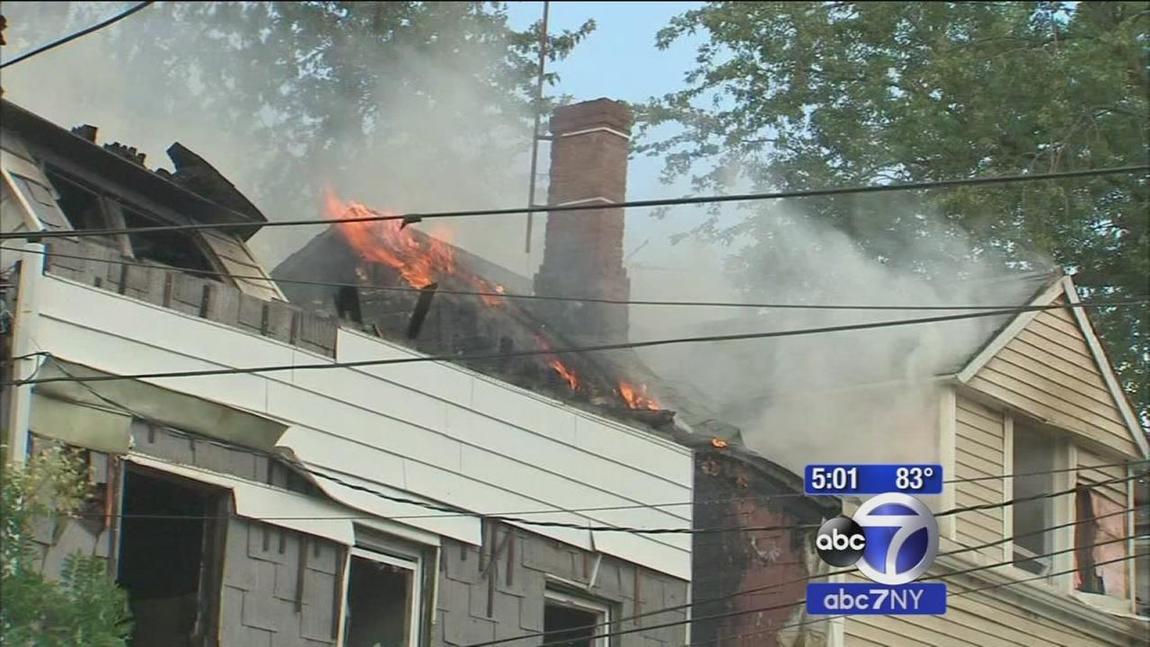 31 displaced after fire rips through homes in Paterson, N.J.