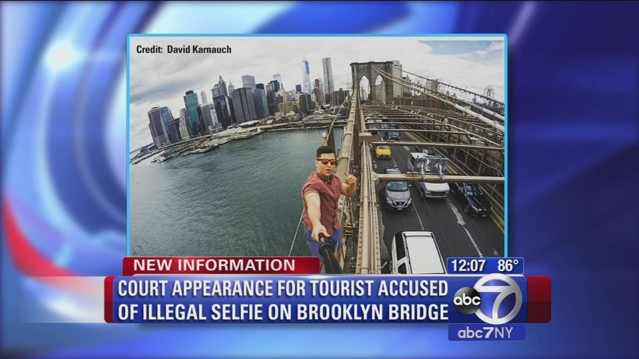 selfie on bridge