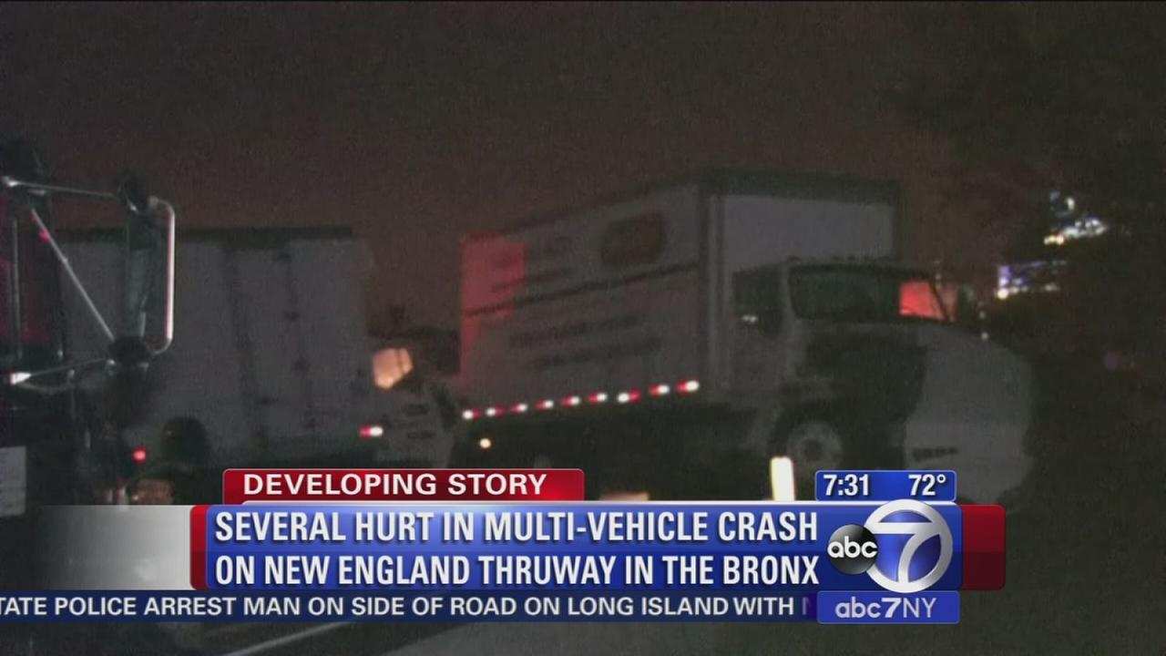 Several hurt in New England Thruway crash