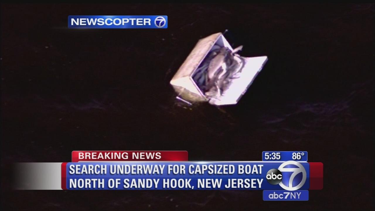 Search underway for capsized boat north of Sandy Hook