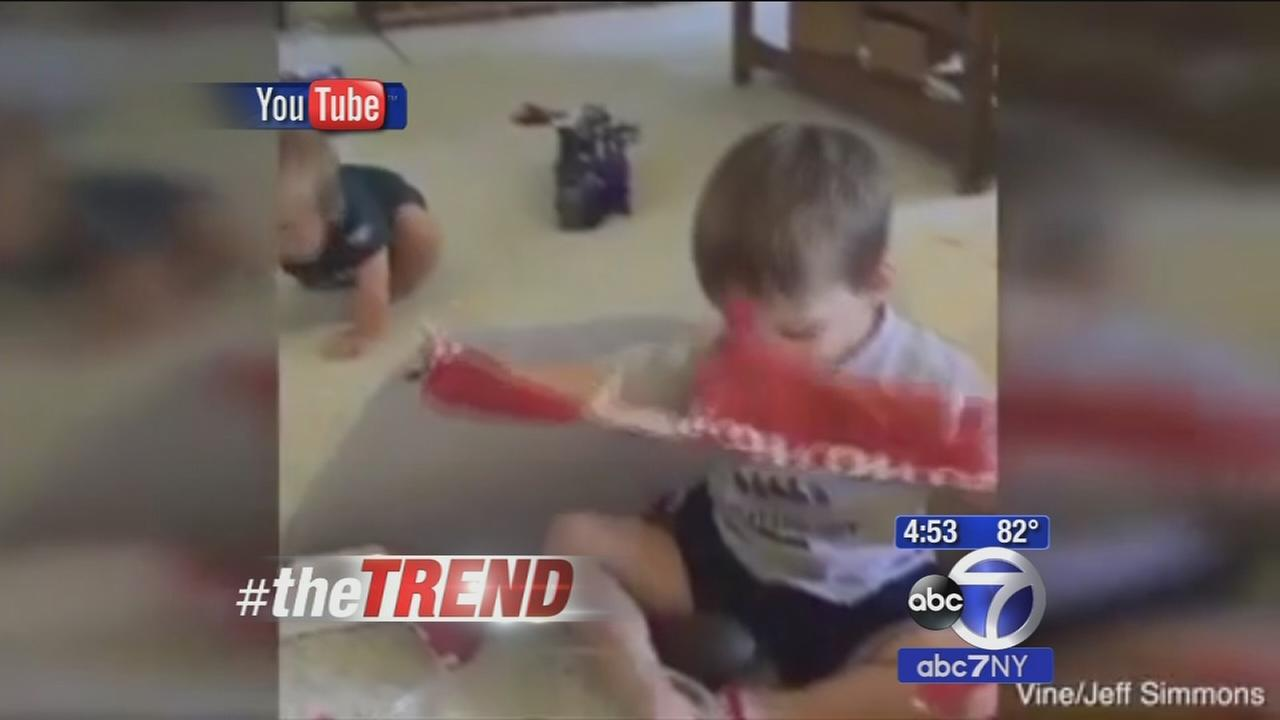 The Trend: Little boy delighted to receive an avocado as a gift