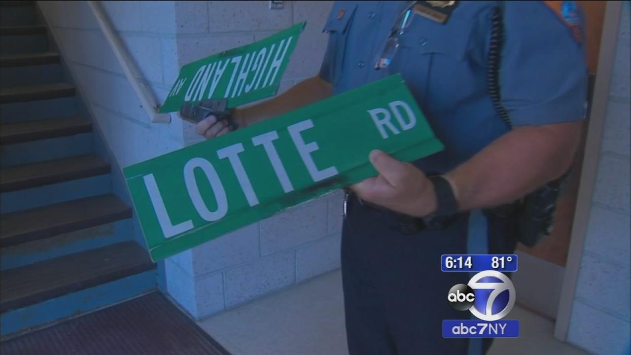 Dozens of street signs swiped from poles in New Jersey town