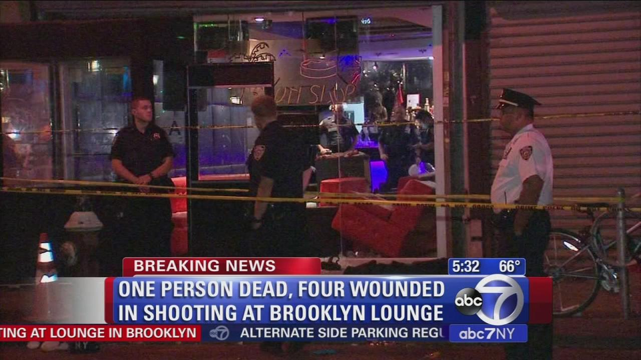 1 dead, 4 hurt in Brooklyn lounge shooting