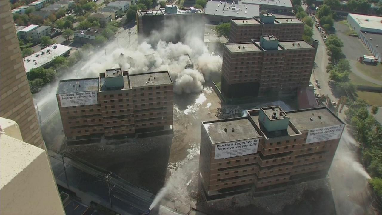 RAW: Jersey City Montgomery housing complex implodes