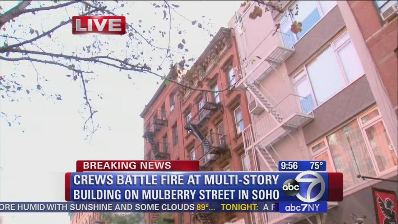 Fire breaks out at SoHo building