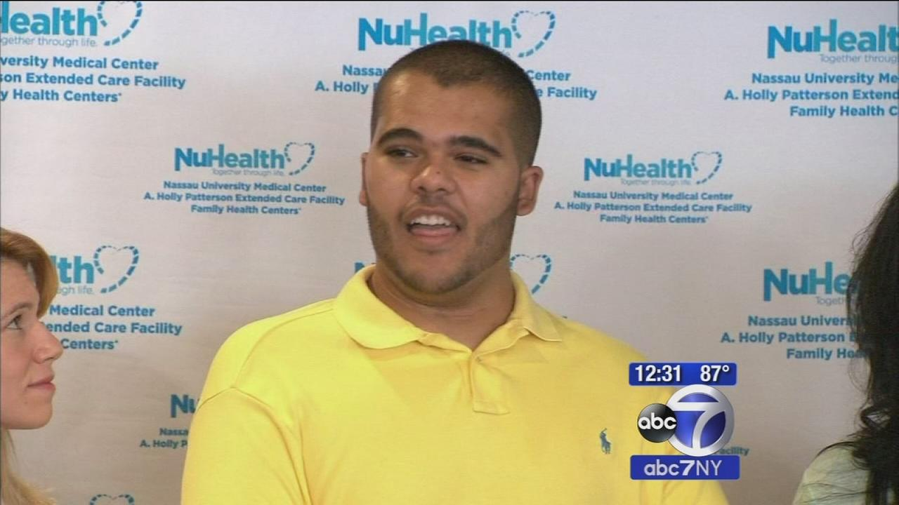 Teen in serious swimming accident walks again