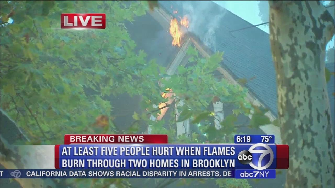 5 hurt in Flatbush fire
