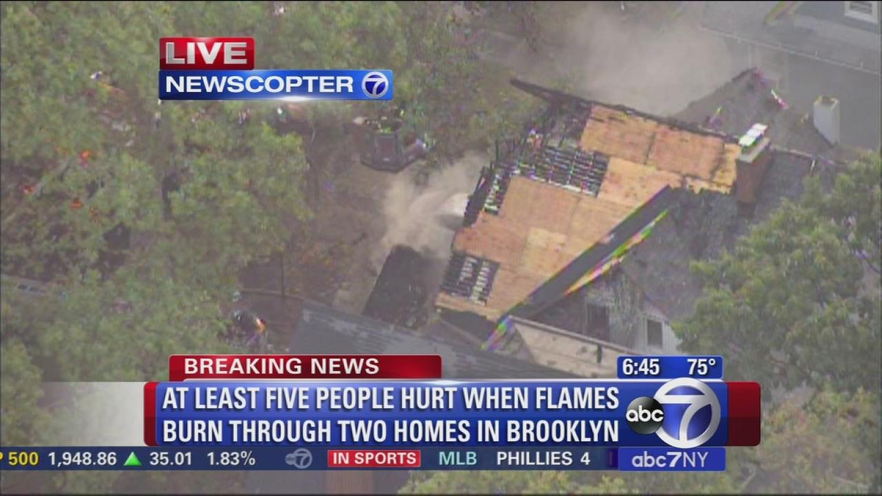 NewxCopter 7 over Flatbush fire