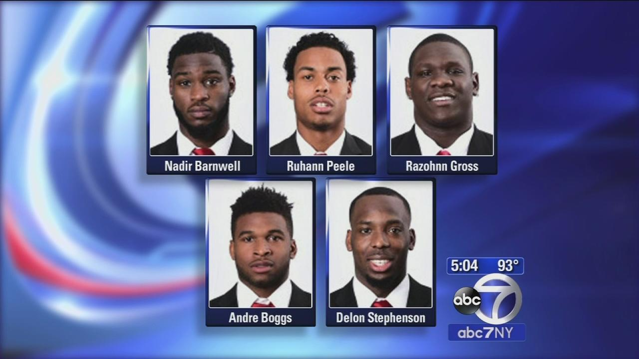 Rutgers football players charged in series of home invasions, assault
