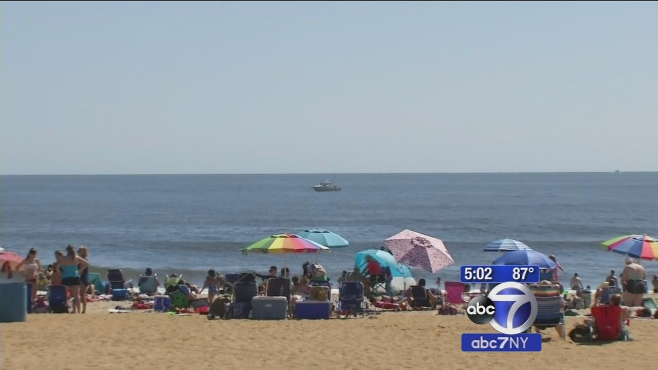 Beachgoers soaking up gorgeous Labor Day weather