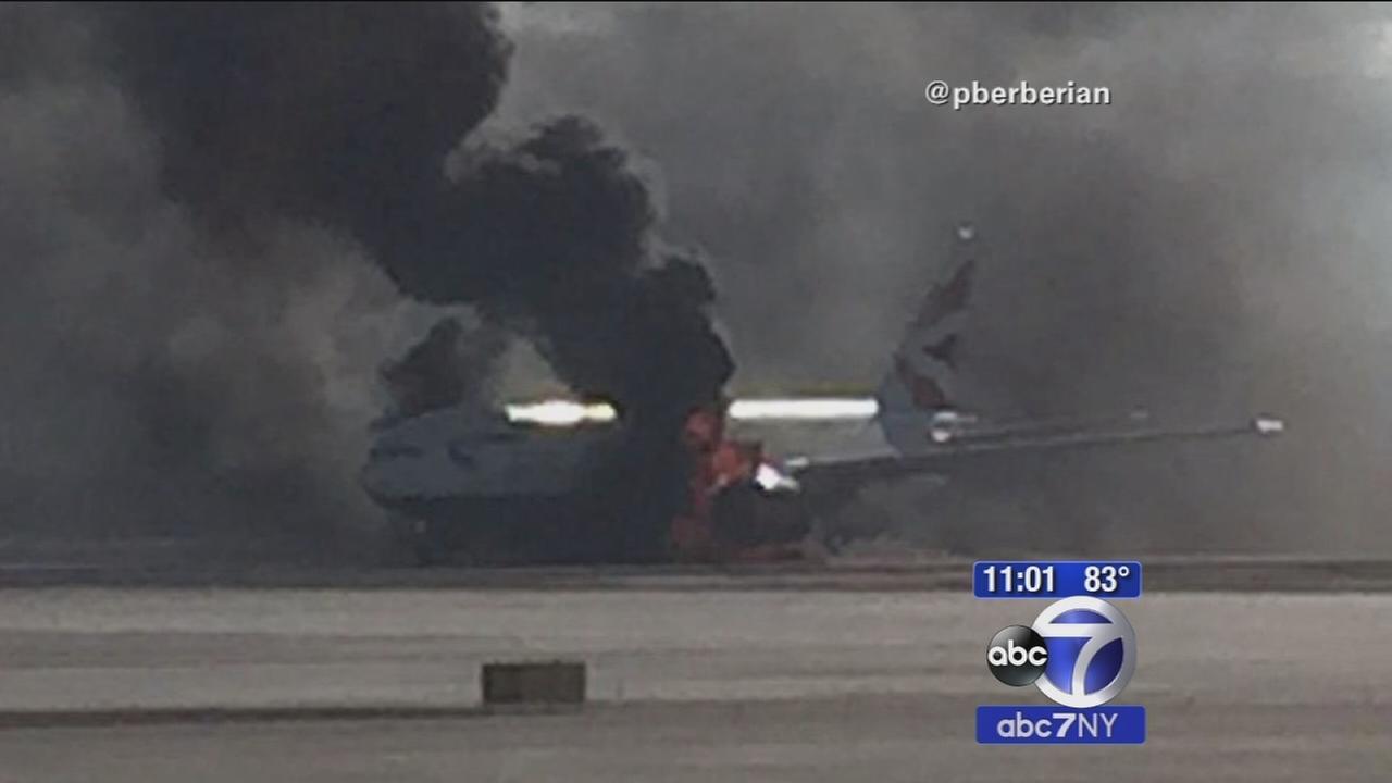 British Airways flight catches fire on Las Vegas runway