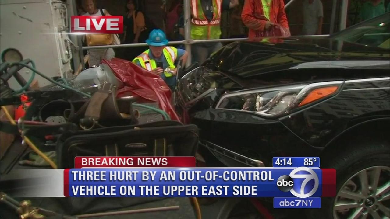 Three hurt by out-of-control vehicle on the Upper East Side