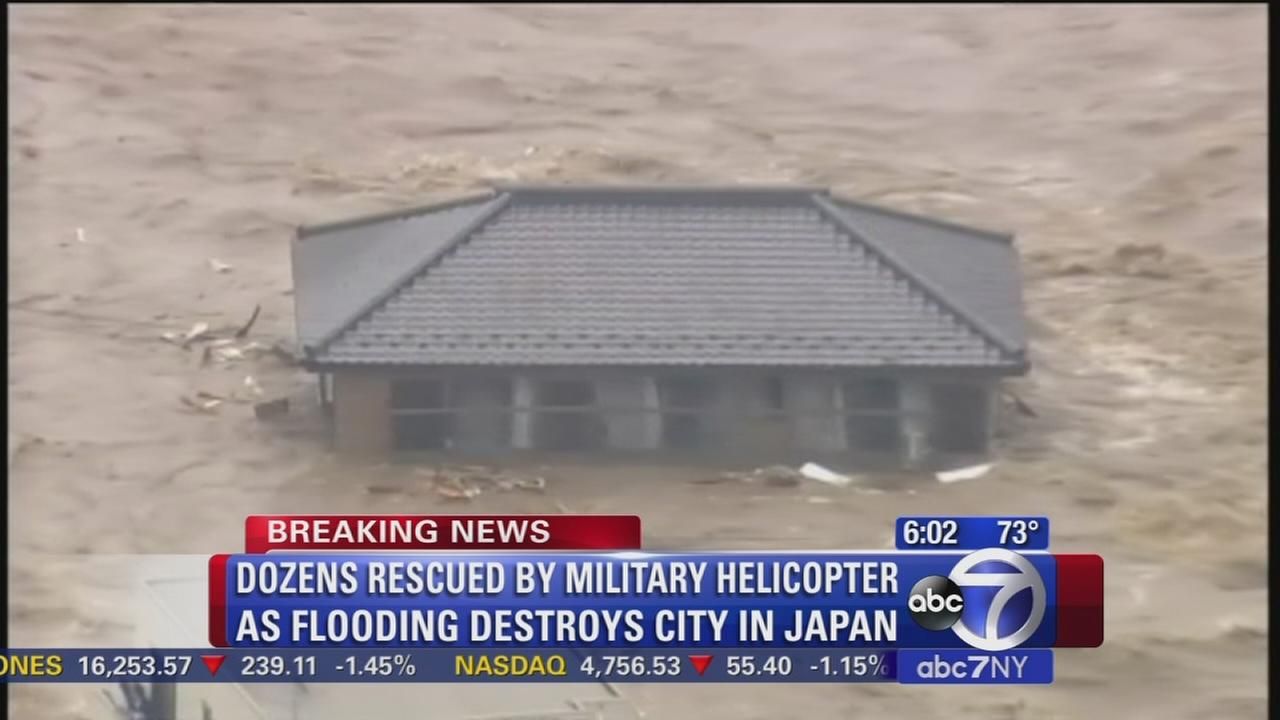 Dozens rescued from flooding in Japan