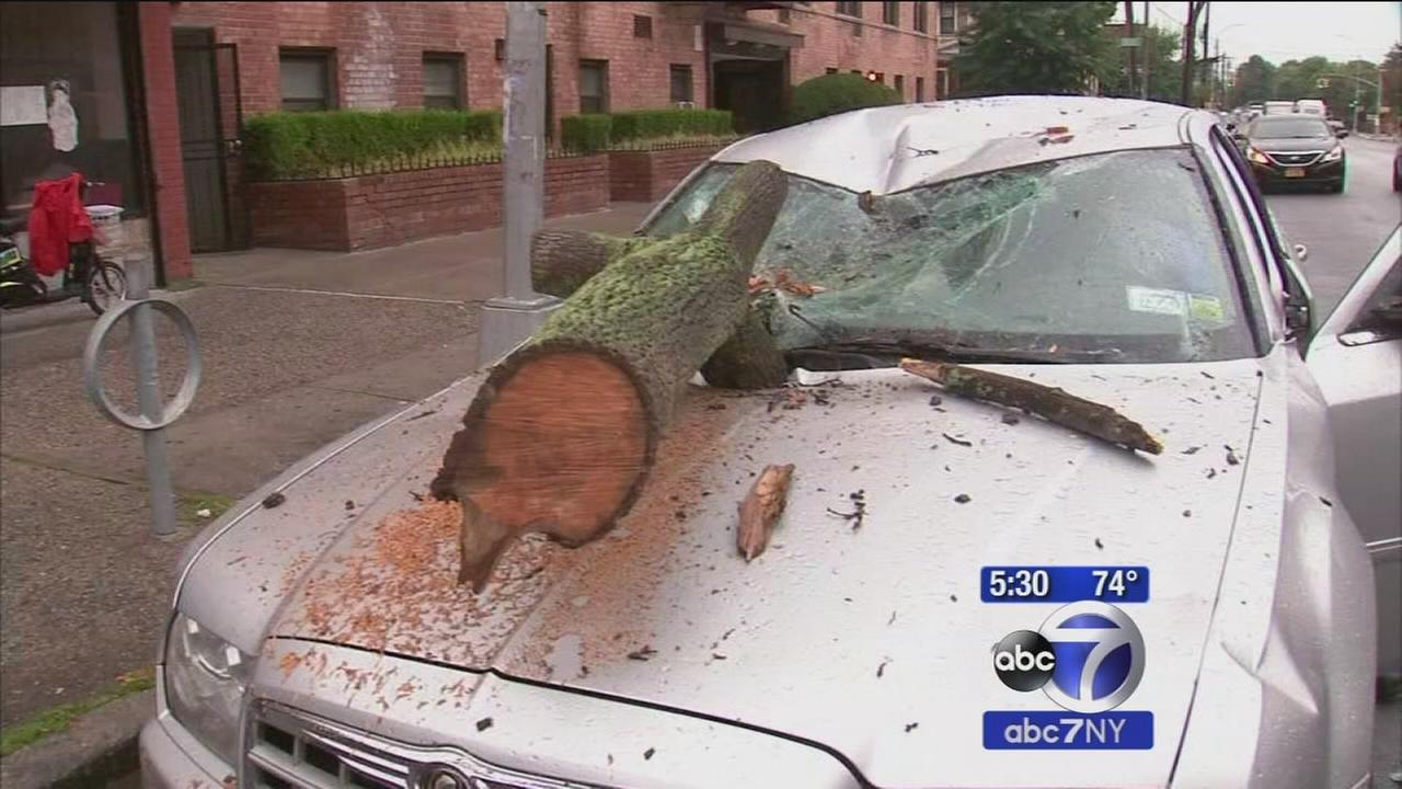 At least 1 hurt as storms spark floods, down trees across tri-state