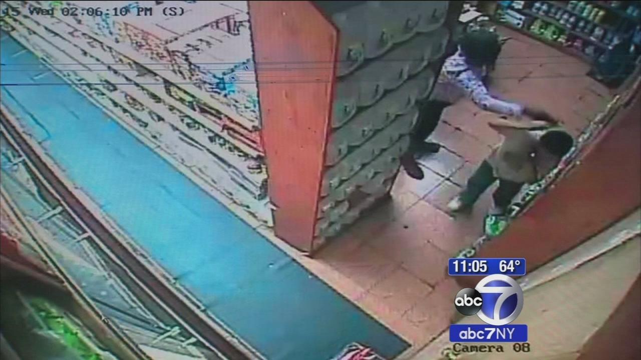 Woman chases down 10-year-old in deli, punches him in face