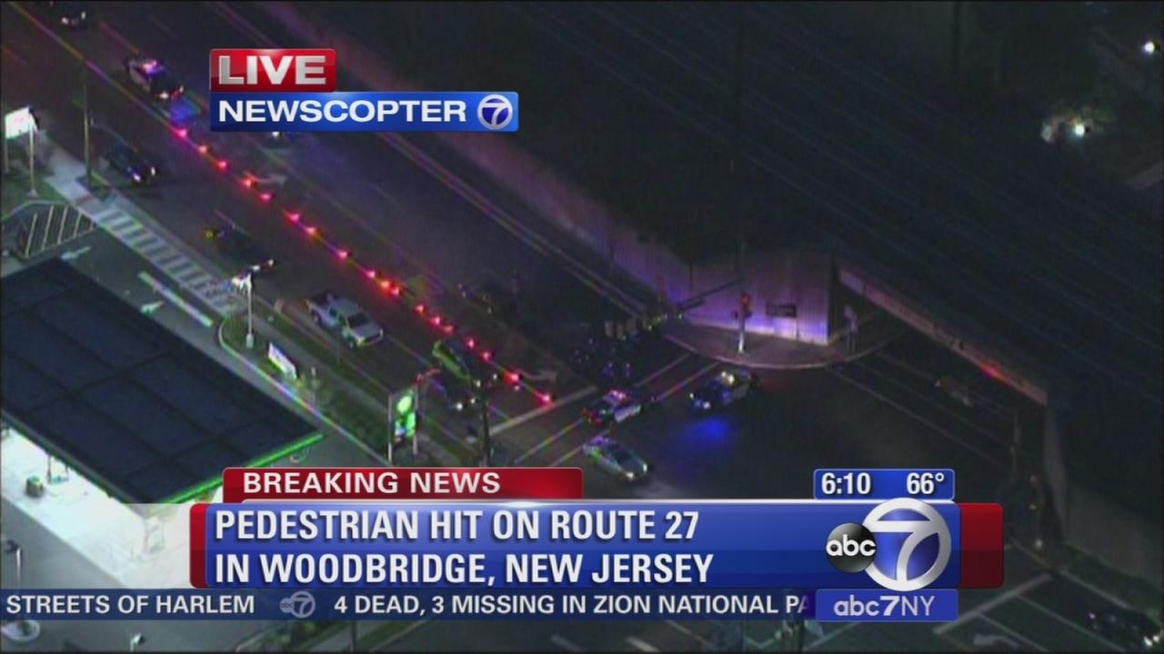 Pedestrian hit on Route 27 in Woodbridge