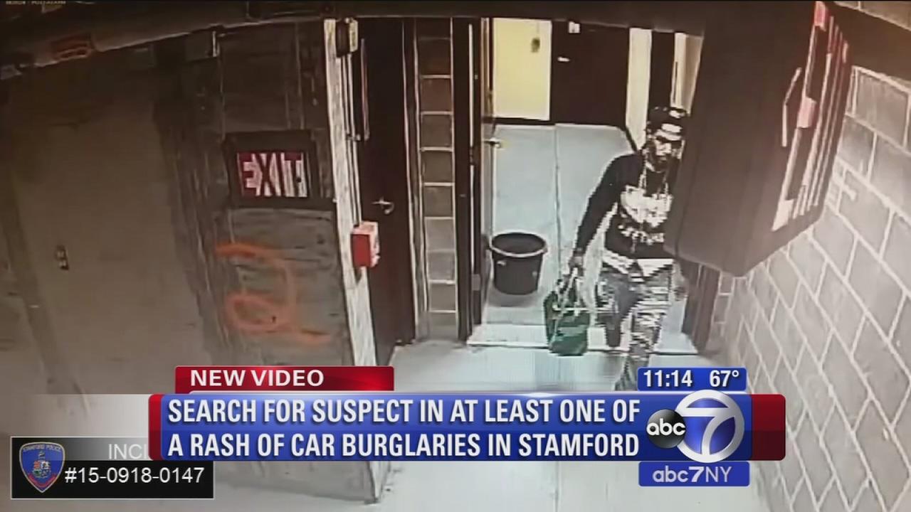 Search for suspect in rash of car burglaries in Stamford