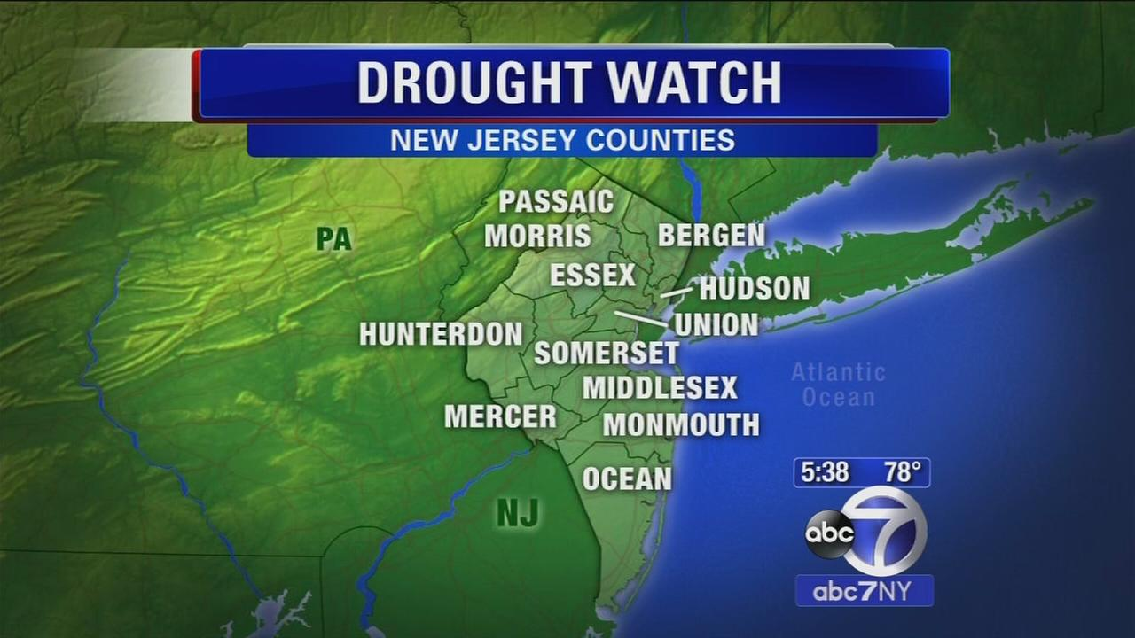 Drought watch in New Jersey counties