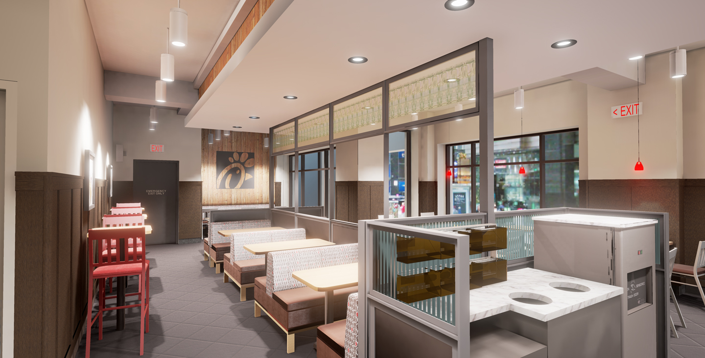 <div class='meta'><div class='origin-logo' data-origin='WABC'></div><span class='caption-text' data-credit='Chick-fil-A'>Chick-fil-A's new restaurant, located across from Grand Central Station at the corner of East 42nd Street and Madison Avenue, will open on Thursday, March 1, 2018.</span></div>
