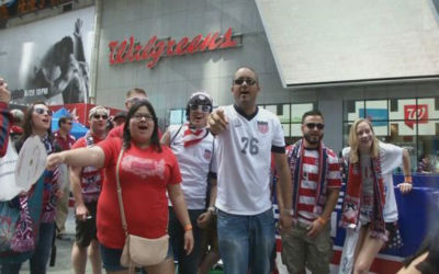 "<div class=""meta ""><span class=""caption-text "">U.S. Soccer and its fans had a day full of activities in New York on Friday, May 30, to celebrate Fan Appreciation Day before they head off to the FIFA World Cup in Brazil.  (WABC Photo/ Candelieri, Domenick S.)</span></div>"