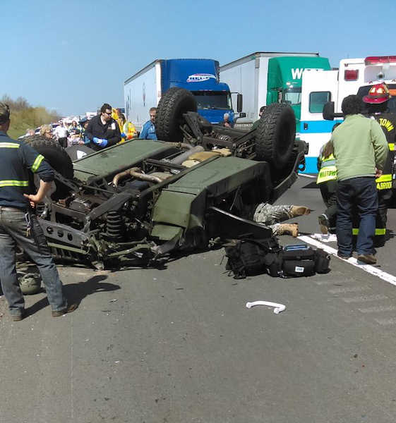 Soldiers Injured After Humvee Overturns On N.J. Turnpike