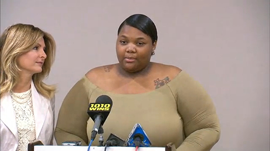 Quantasia Sharpton, 21 (pictured), is suing Usher for reportedly having sex with her and not telling her he had herpes