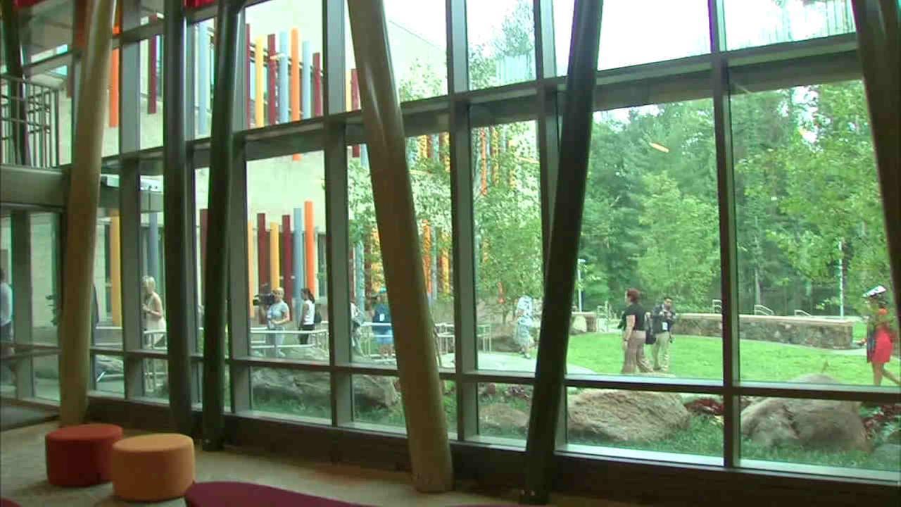 An atrium inside the new Sandy Hook Elementary School WABC