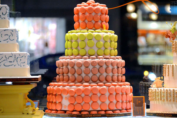 <div class='meta'><div class='origin-logo' data-origin='none'></div><span class='caption-text' data-credit=''>A macaron-covered cake on display at Francois Payard's bakery, located on 3rd Ave. and 74th.</span></div>