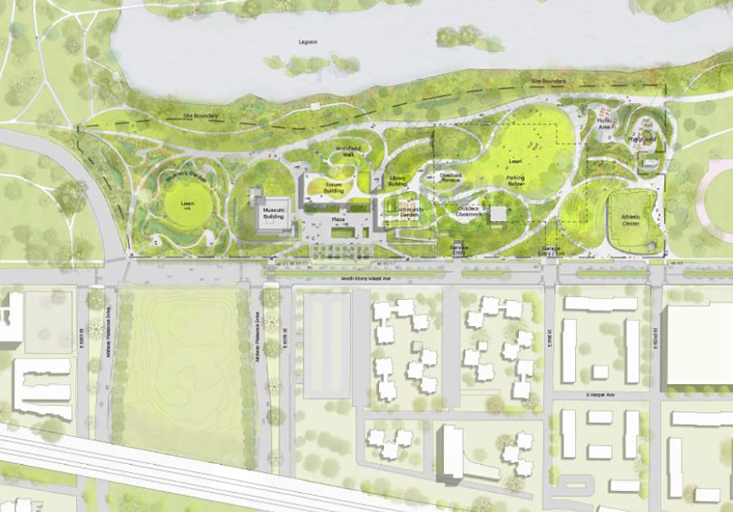 <div class='meta'><div class='origin-logo' data-origin='WLS'></div><span class='caption-text' data-credit='Courtesy of Obama Foundation'>Obama Library renderings, Jan. 10, 2018</span></div>