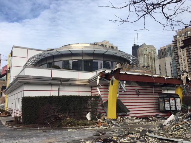 <div class='meta'><div class='origin-logo' data-origin='none'></div><span class='caption-text' data-credit=''>Construction is now underway on Rock 'n' Roll McDonald's at 600 North Clark Street. The remodeled restaurant is expected to reopen this spring.</span></div>