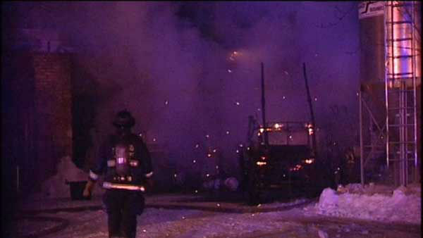 <div class='meta'><div class='origin-logo' data-origin='none'></div><span class='caption-text' data-credit='WLS Photo'>Twelve carriages were destroyed in a stable fire in Chicago's Old Town neighborhood overnight.</span></div>